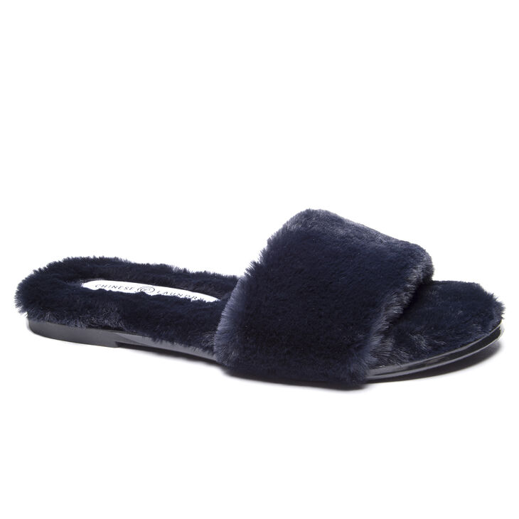 Chinese Laundry Mulholland Slide Heels in Navy