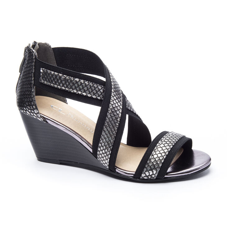 Chinese Laundry Nia Pumps in Pewter/black