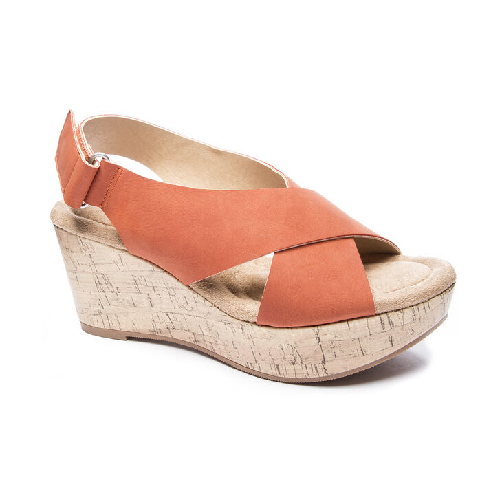 Chinese Laundry Dream Girl Sandals in Burnt Orange Size 10.0