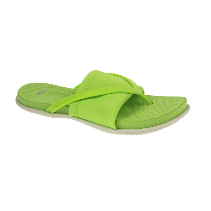 Chinese Laundry Awesome Thong Sandals in Neon Green Size 6.0