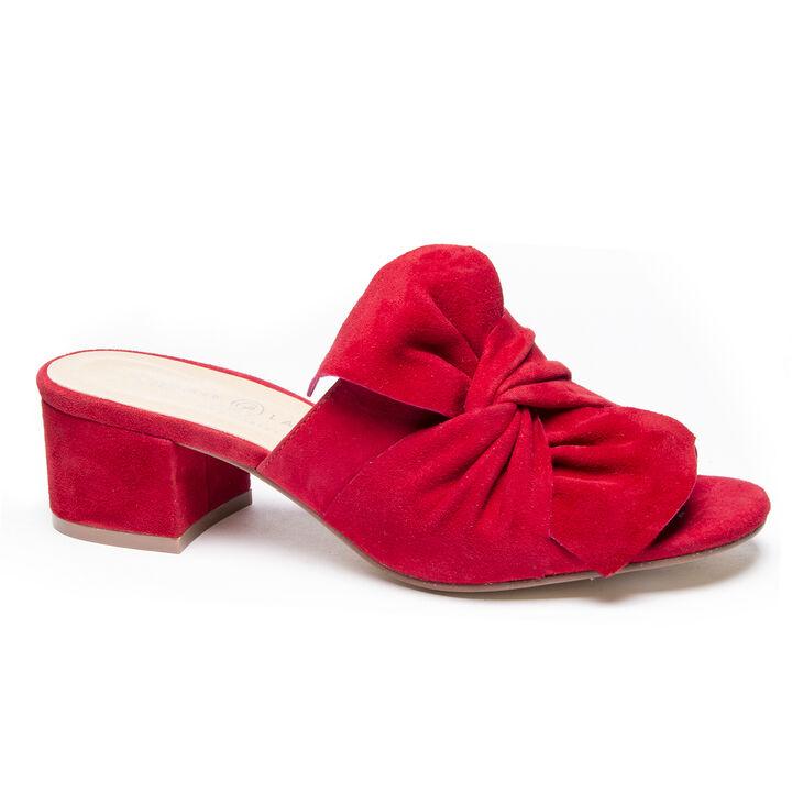 Chinese Laundry Marlowe Slide Heels in Rebel Red