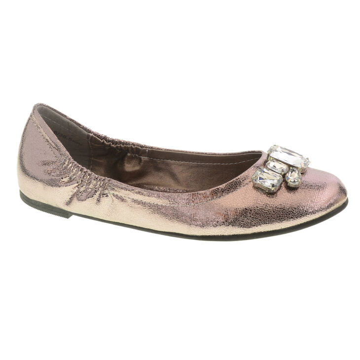 Chinese Laundry Golden Girl Ballet Flats in Tin Size 10.0
