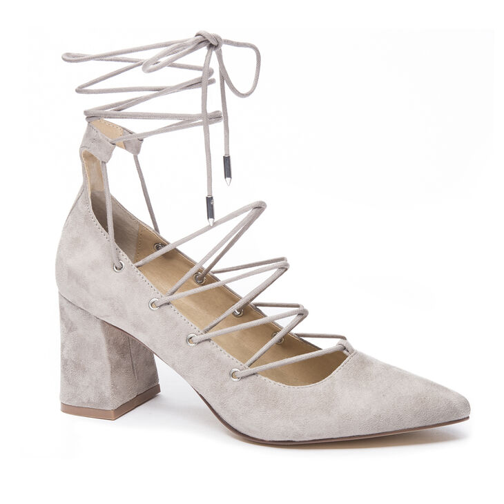 Chinese Laundry Odelle Block Heels in Cool Taupe