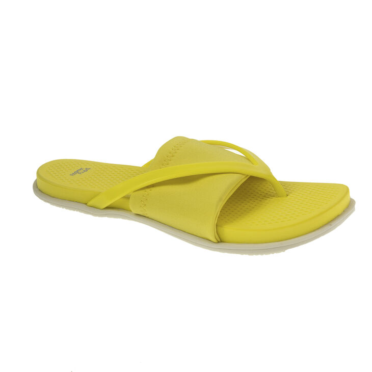 Chinese Laundry Awesome Thong Sandals in Neon Yellow Size 10.0