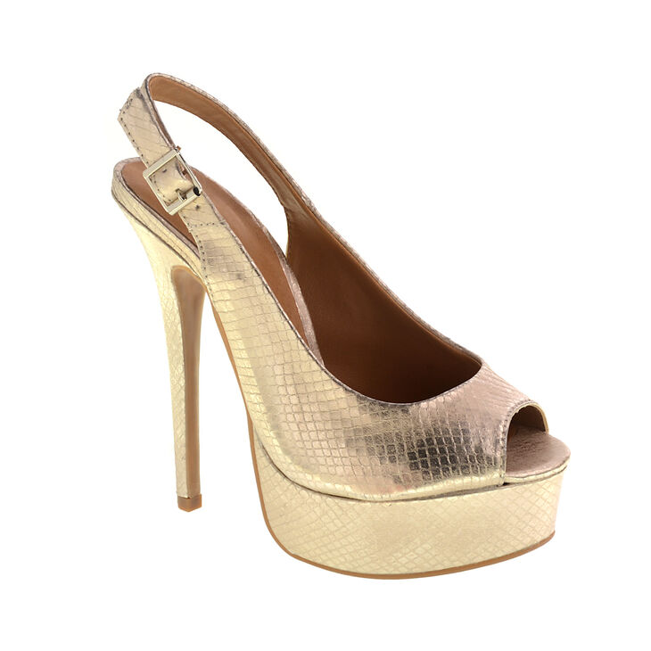 Chinese Laundry Abba Heels in Light Gold Size 10.0
