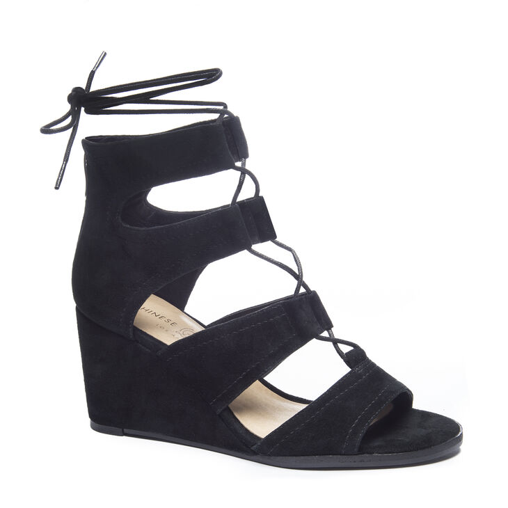 Chinese Laundry Raja Wedges in Black