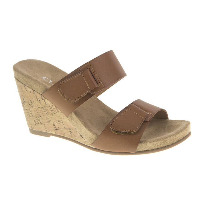 Chinese Laundry Team Player Slide Heels in Rich Brown