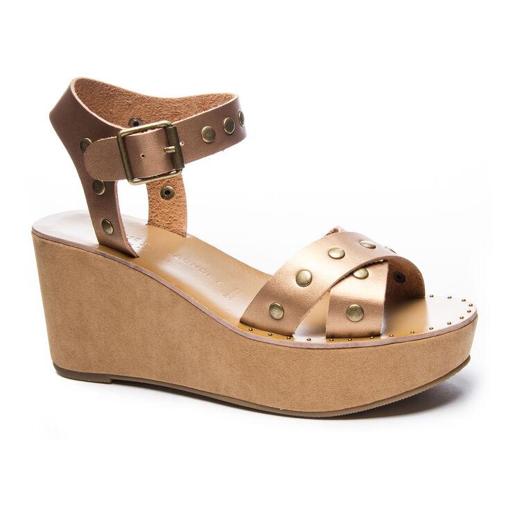 Chinese Laundry Ozzie Slide Heels in Bronze