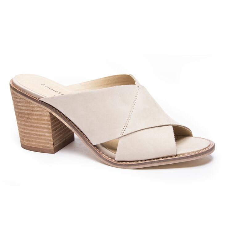 Chinese Laundry Crissa Slide Heels in Cream