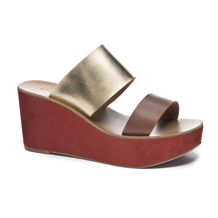 Chinese Laundry Ollie Wedges in Rich Brown