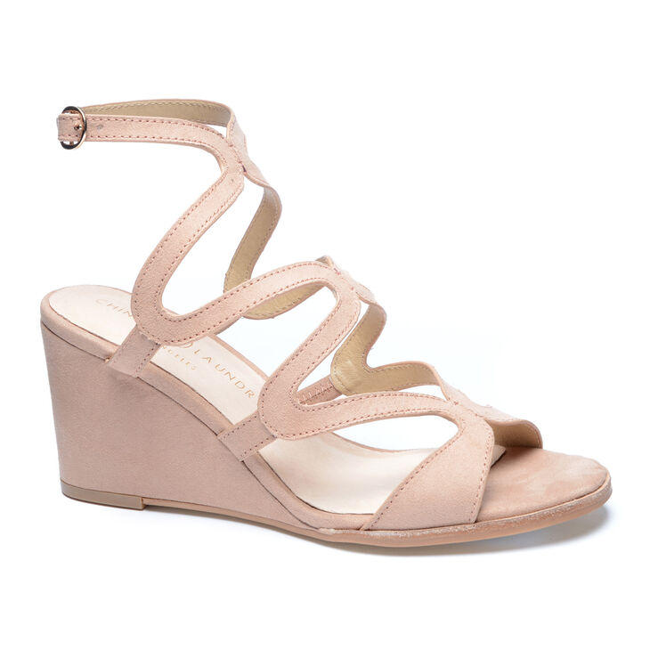 Chinese Laundry Radical Wedges in Dark Nude