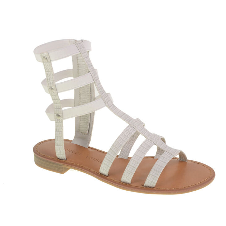 Chinese Laundry Gear Up Gladiator Flats in White