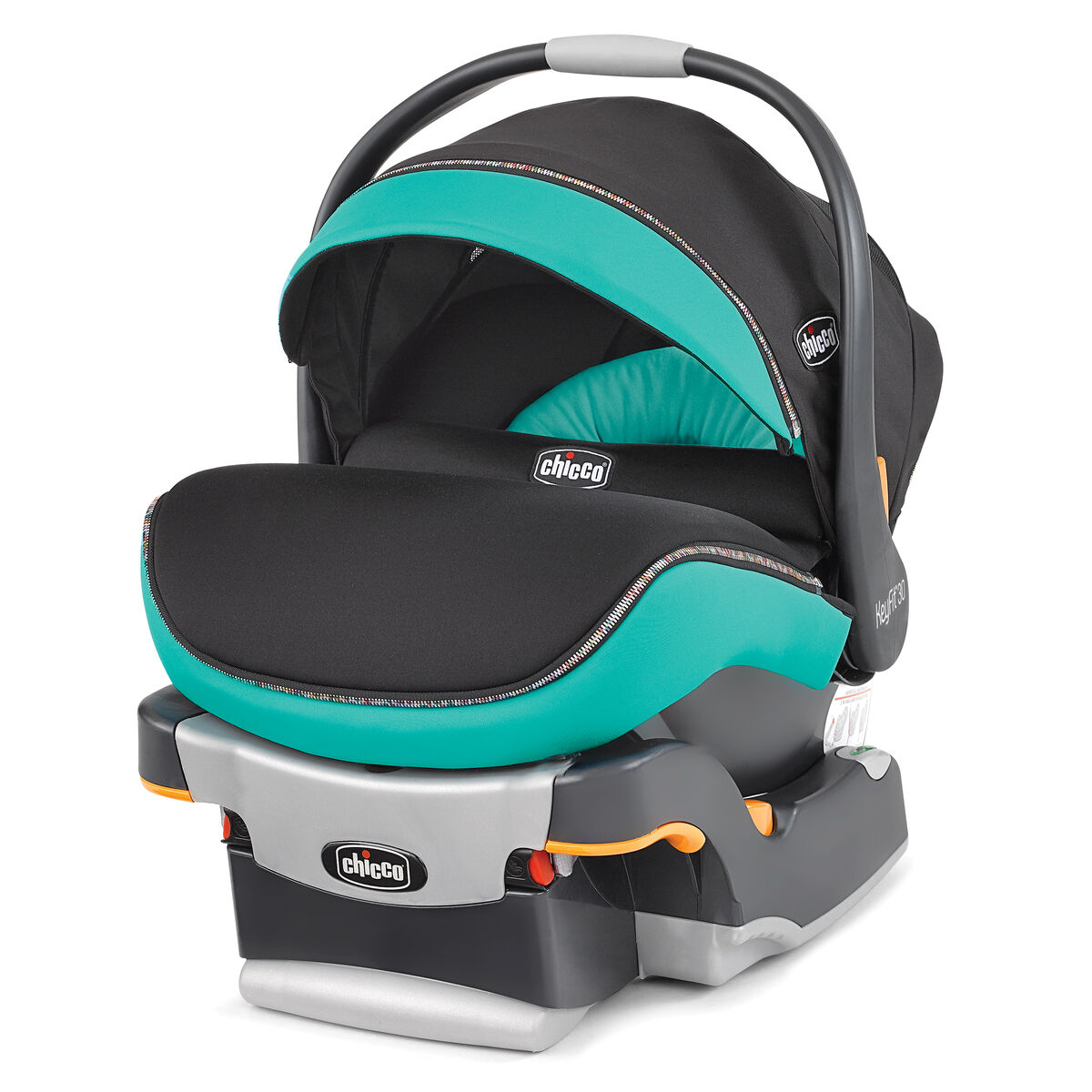 Chicco keyfit 30 zip infant car seat and base in teal aqua color emerald style
