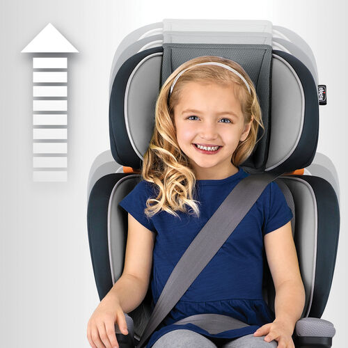 car seat in gem style duozone head and shoulder side impact protection can be adjusted to one of ten different height